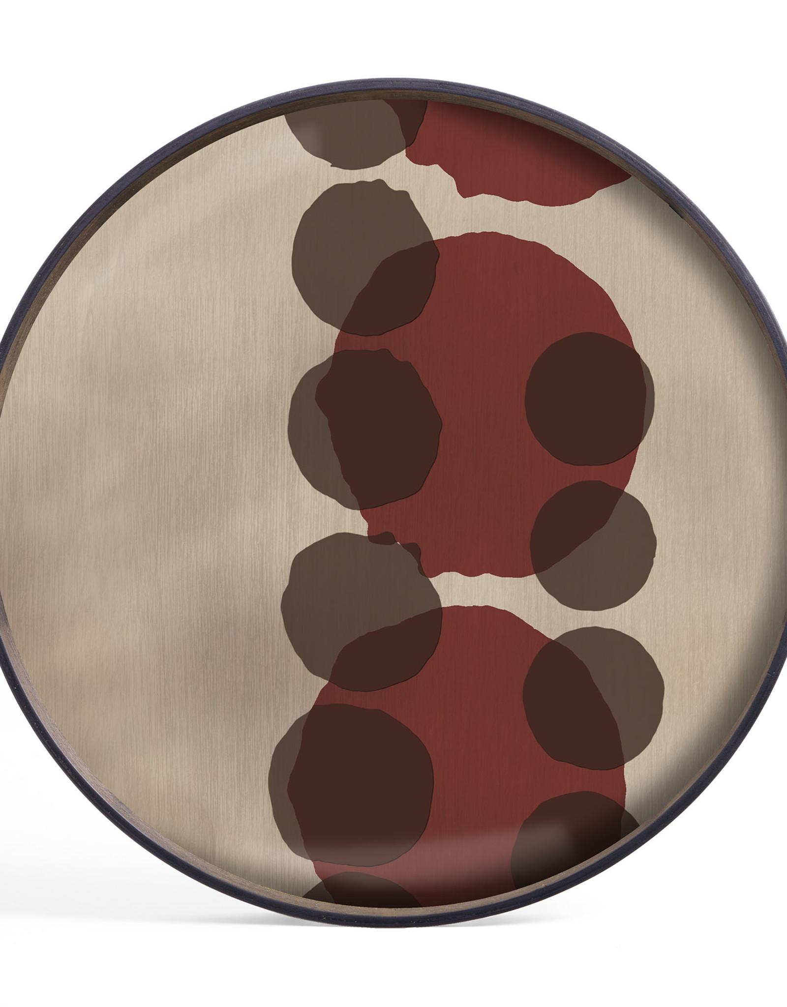 Pinot Layered Dots glass tray - round - S 19 x 19 x 2
