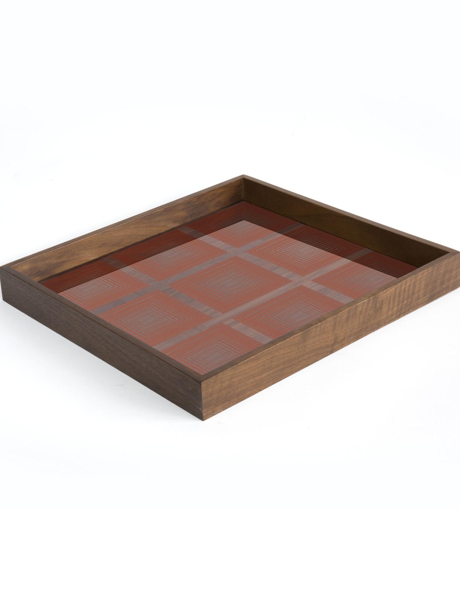 Pumpkin Squares glass tray - square - S 15 x 15 x 2