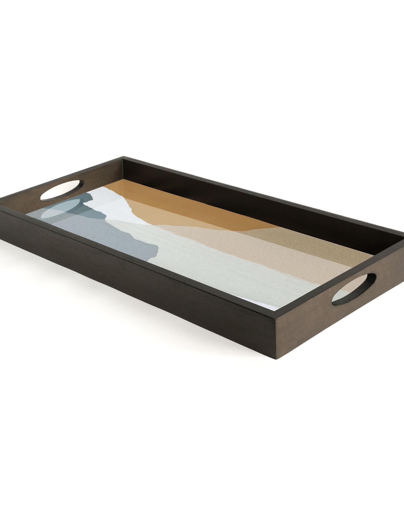 Slate Wabi Sabi glass tray - rectangular - M 27 x 12 x 2