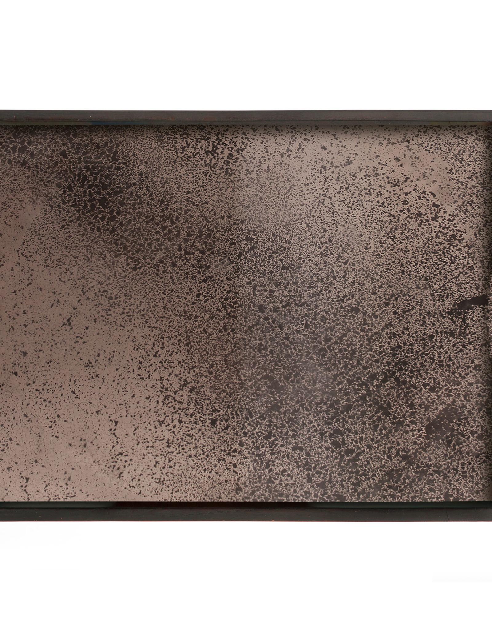 Bronze mirror tray - rectangular - S 18 x 14 x 2