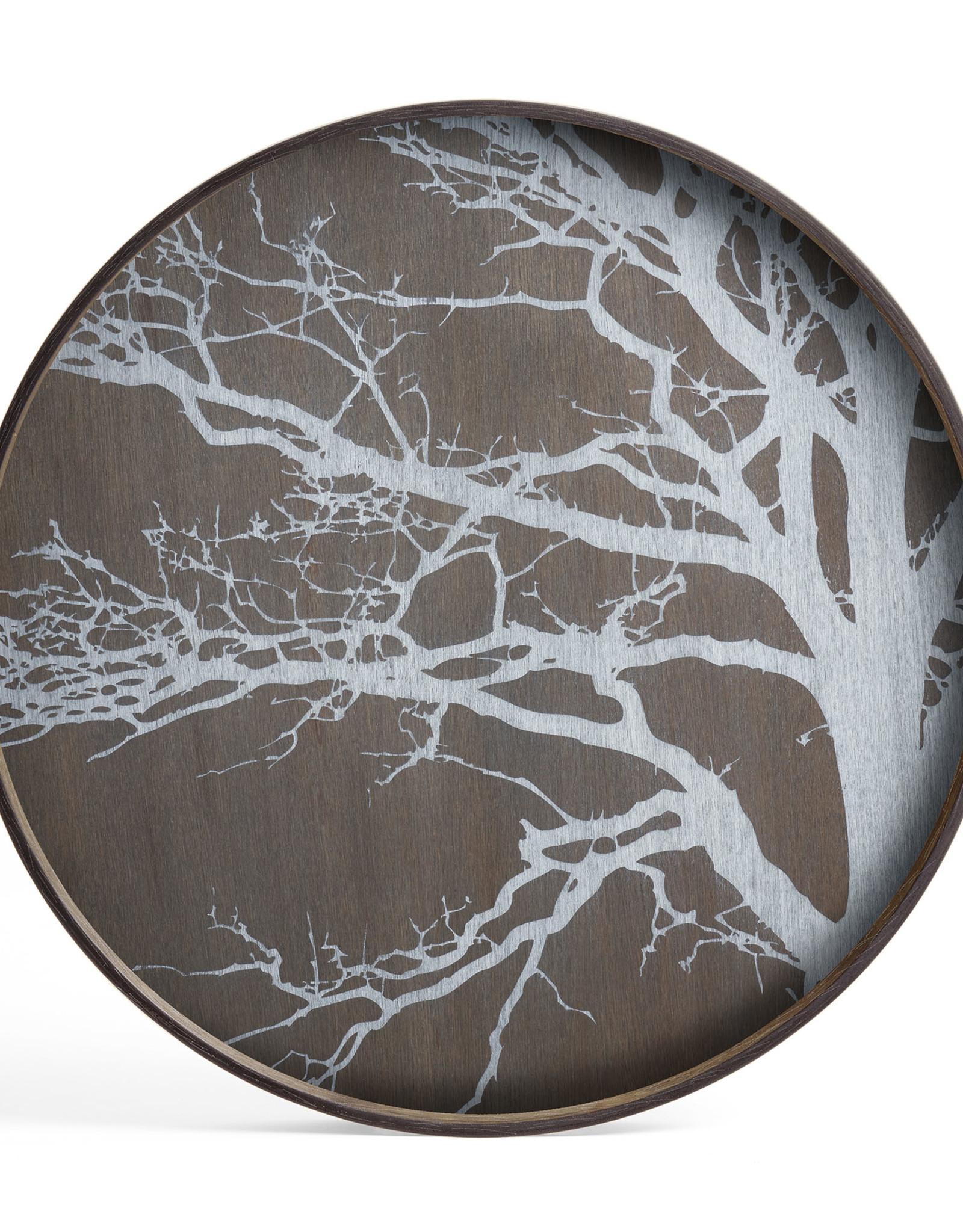White Tree wooden tray - round - L 24 x 24 x 2
