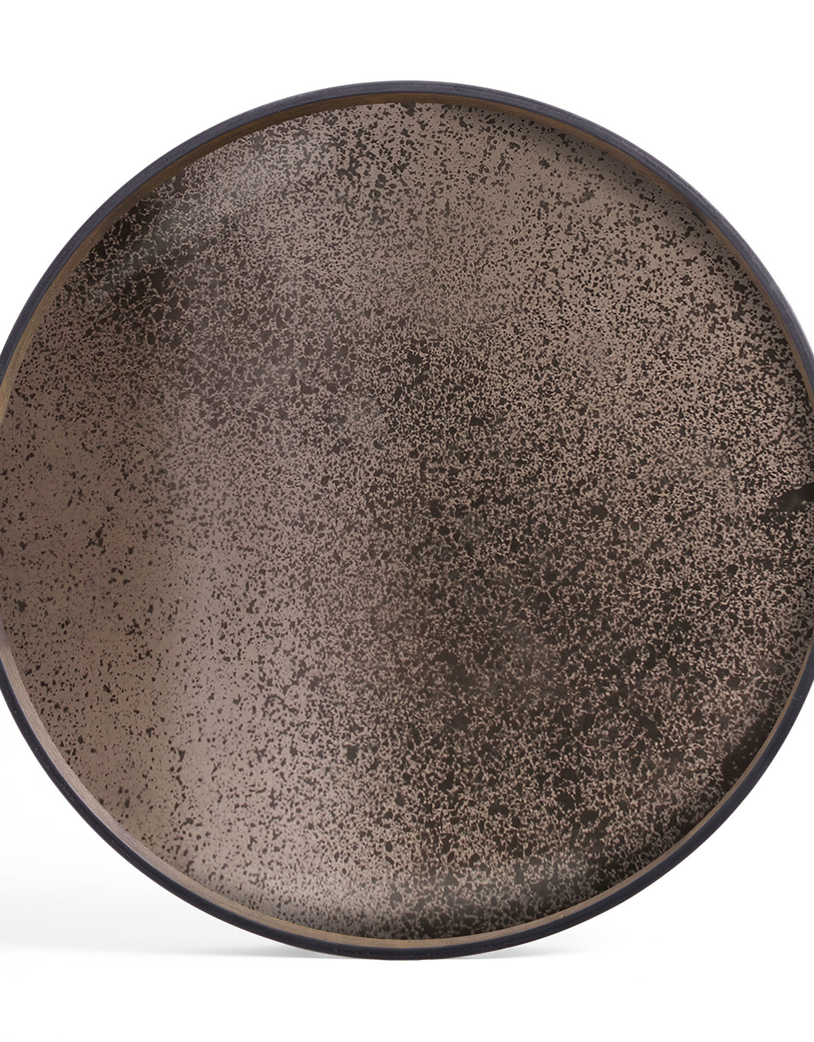 Bronze mirror tray - round - S 19 x 19 x 2