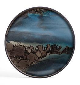 Slate Organic glass tray - round - S 19 x 19 x 2