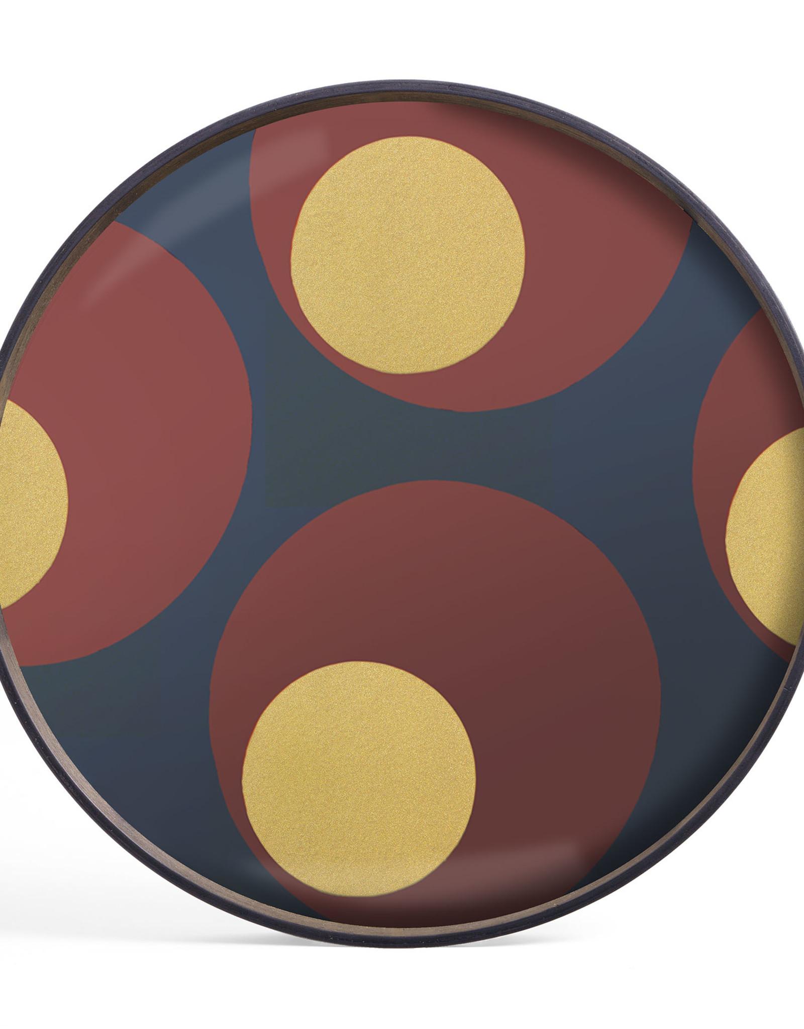 Turkish Dots glass tray - round - S 19 x 19 x 2