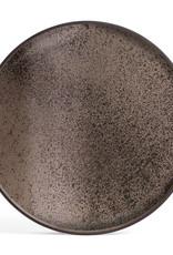 Bronze mirror tray - round - XL 36 x 36 x 2