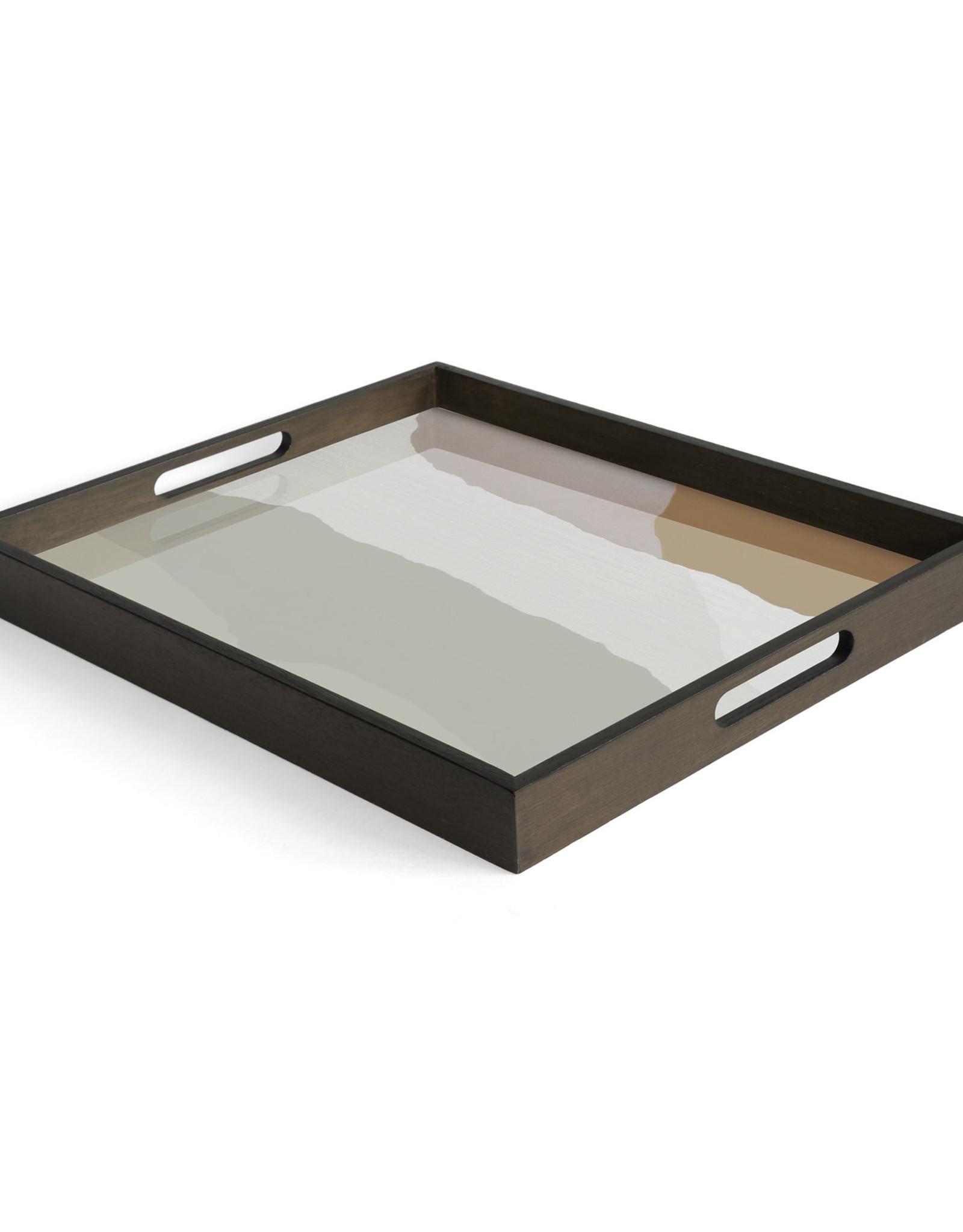 Sand Wabi Sabi glass tray - rectangular - S 18 x 14 x 2