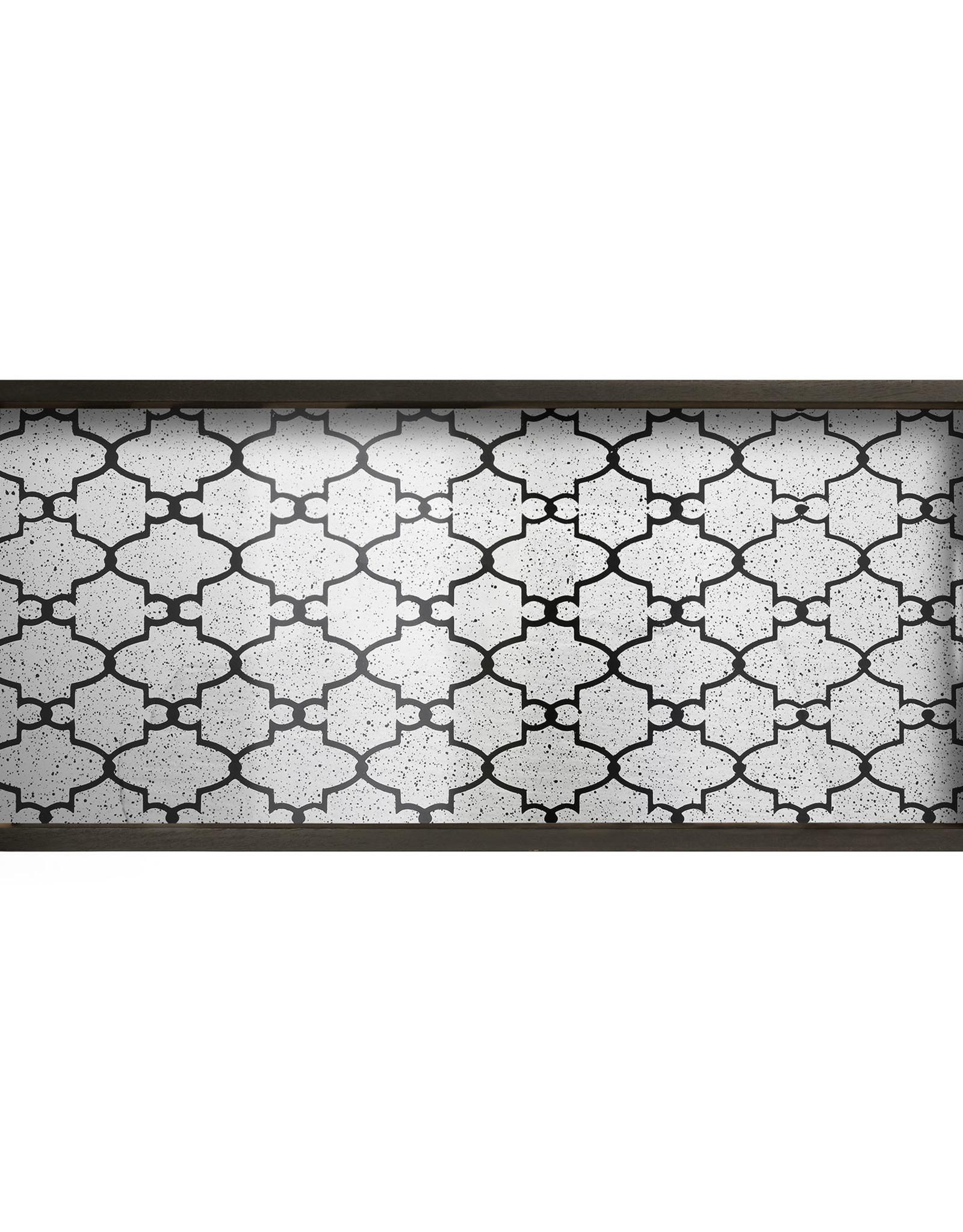 Bronze Gate mirror tray - rectangular - M 27 x 12 x 2