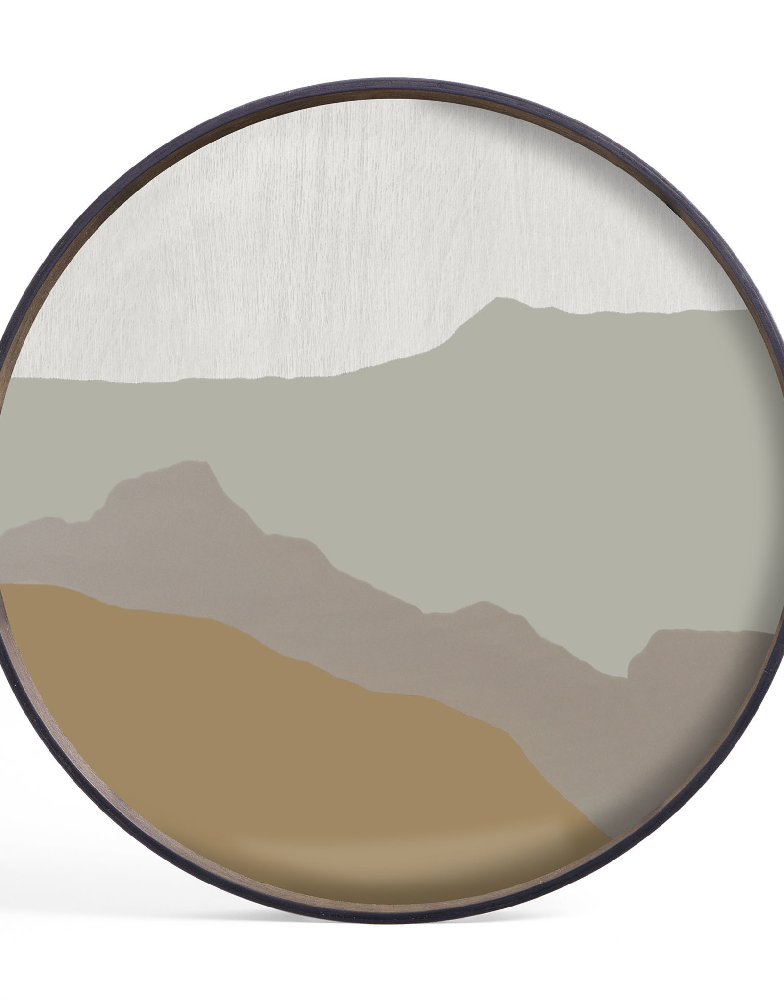 Sand Wabi Sabi glass tray - round - S 19 x 19 x 2