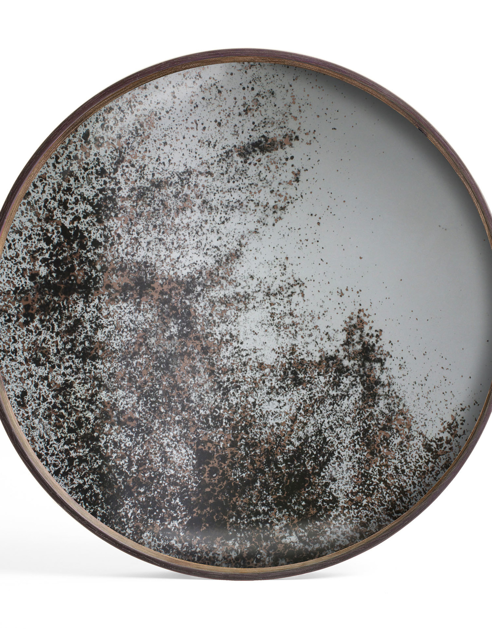 Clear mirror tray - round - S 19 x 19 x 2