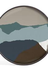 Graphite Wabi Sabi glass tray - round - XL 36 x 36 x 2