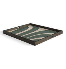 Slate Curves wooden tray - rectangular - L 24 x 18 x 2
