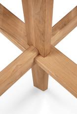 Teak Circleoutdoor dining table, 54 x 54 x 30