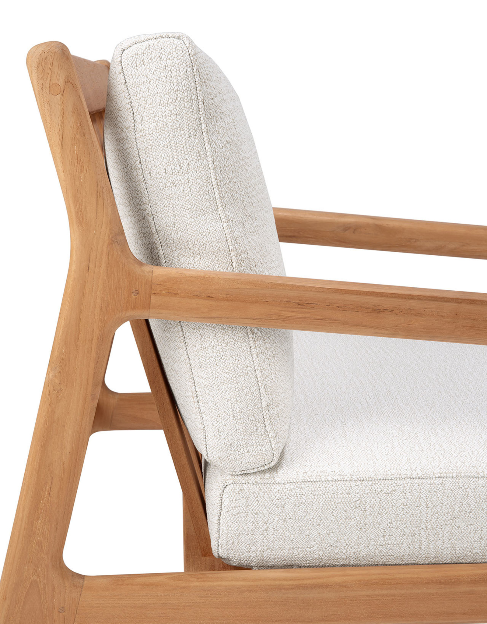 Teak Jack outdoor lounge chair - off white