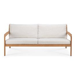 Teak Jack outdoor sofa - off white, 71 x 35 x 29