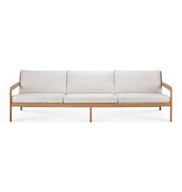 Teak Jack outdoor sofa - off white, 104 x 35 x 29