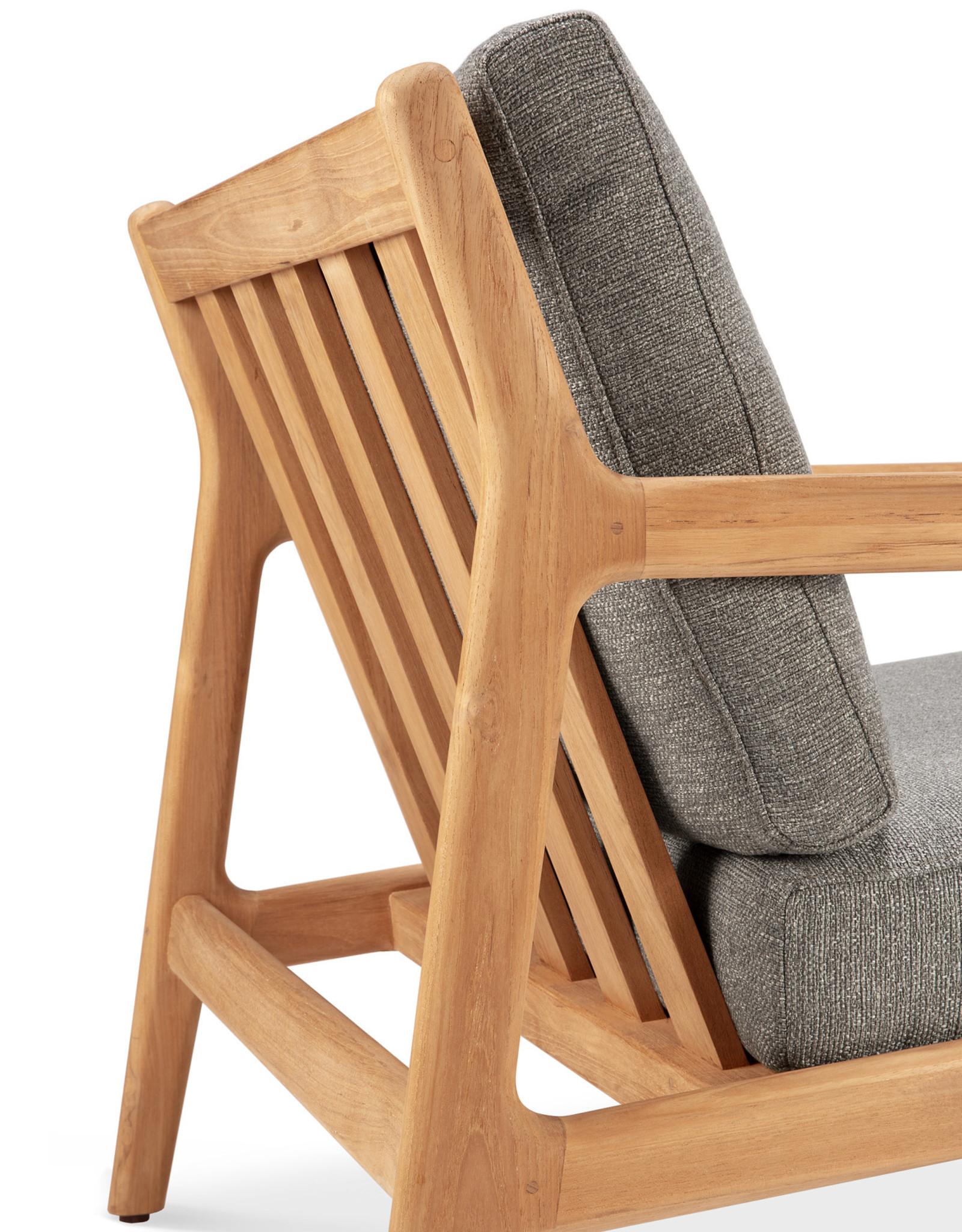 Teak Jack outdoor lounge chair - mocha