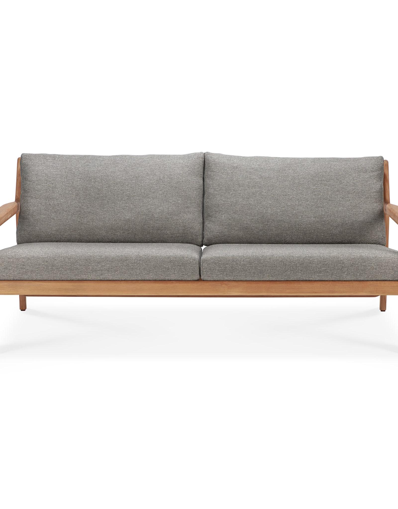 Teak Jack outdoor sofa - mocha, 71 x 35 x 29
