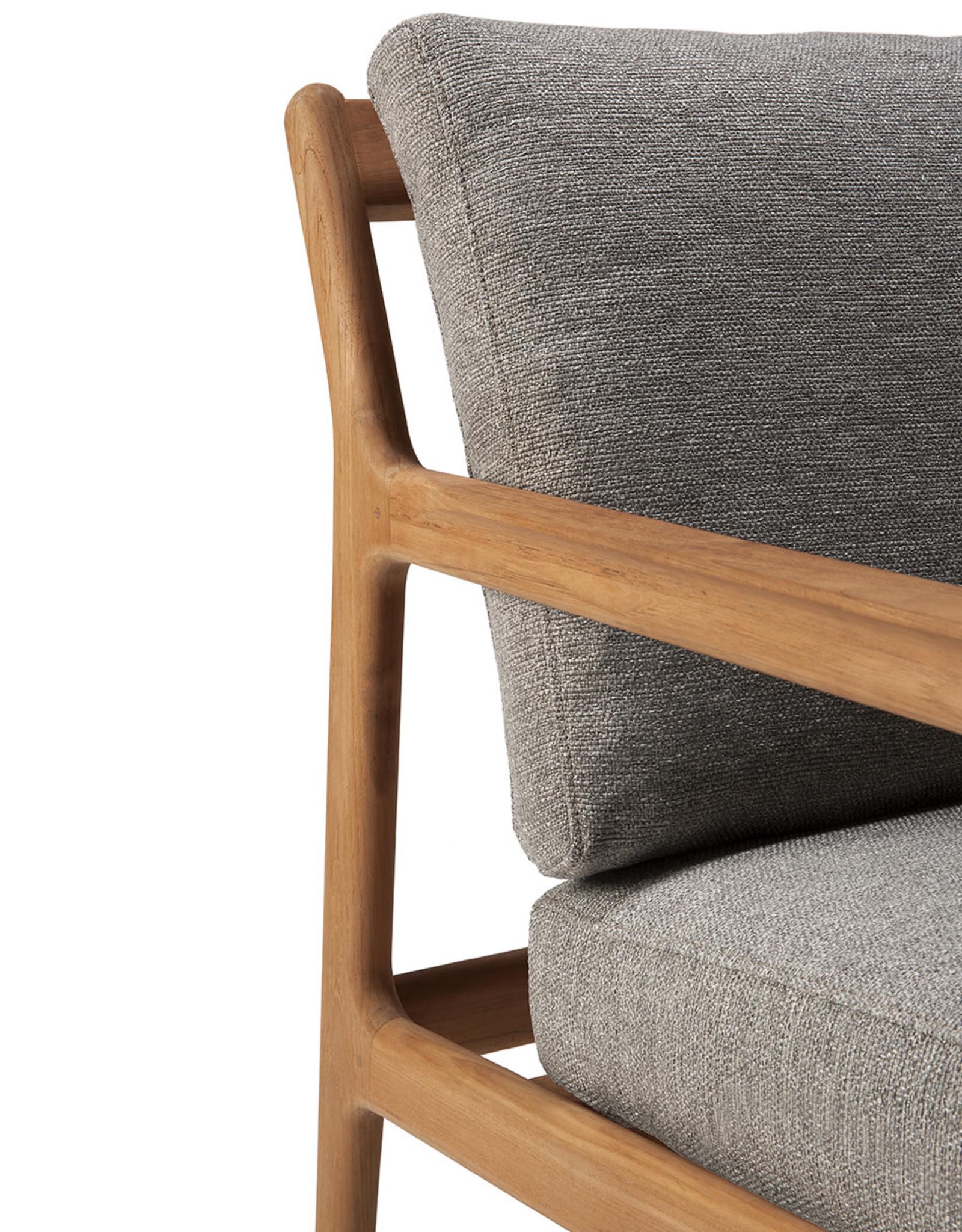 Teak Jack outdoor sofa - mocha, 104 x 35 x 29
