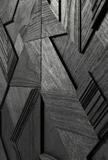 Teak Graphic sideboard - 3 doors