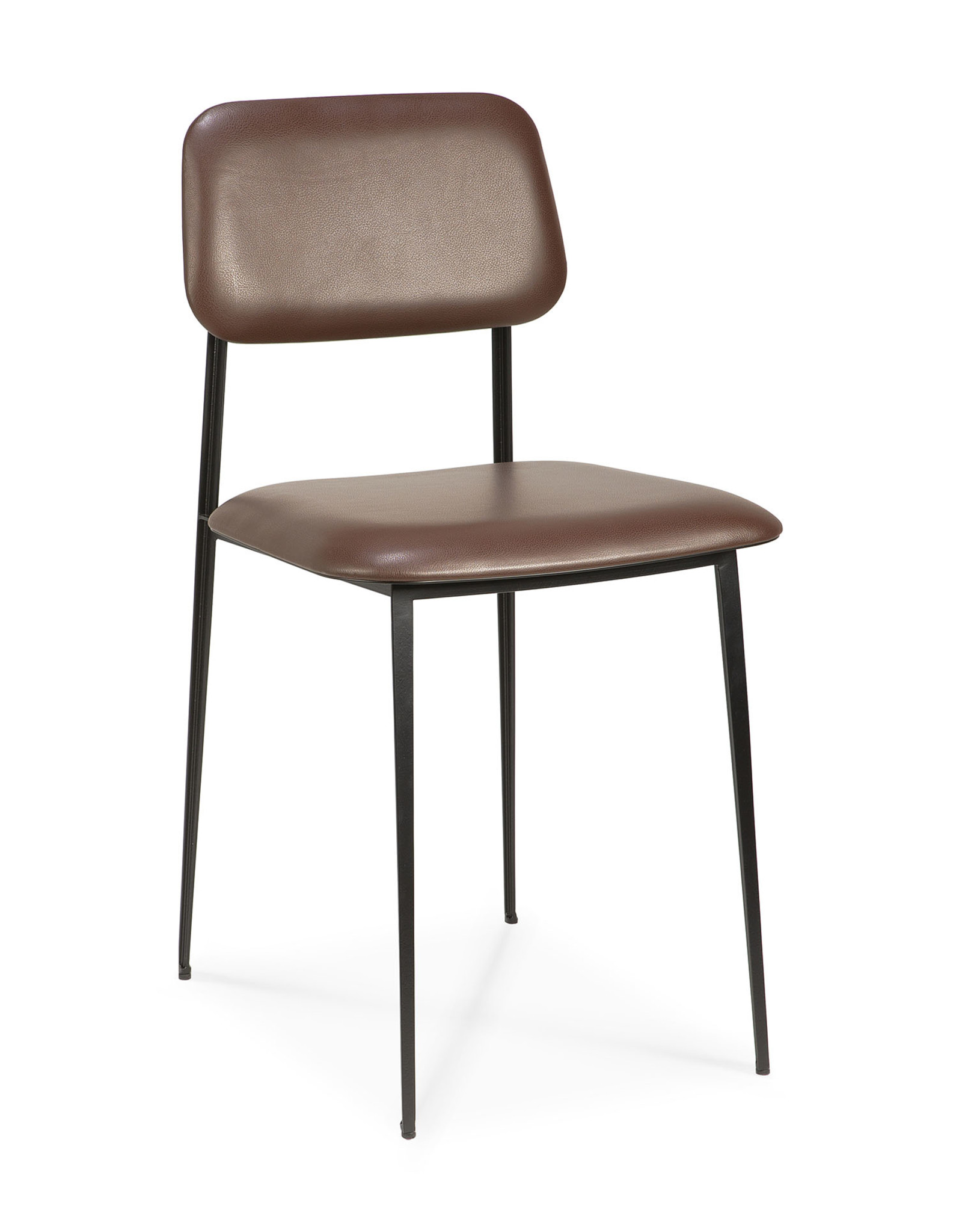 DC dining chair - chocolate leather