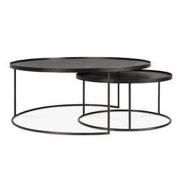 Round tray coffee table set - L/XL (trays not included) 24 x 24 x 12 / 37 x 37 x 15