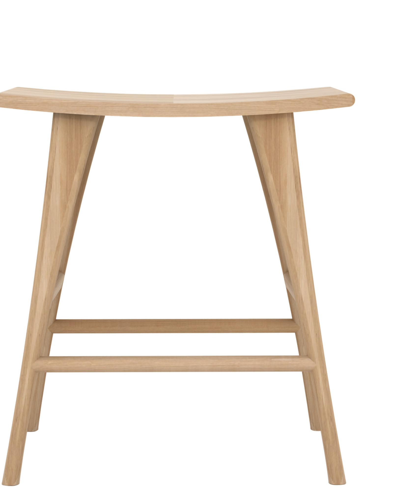 Oak Osso counter stool - contract grade - varnished