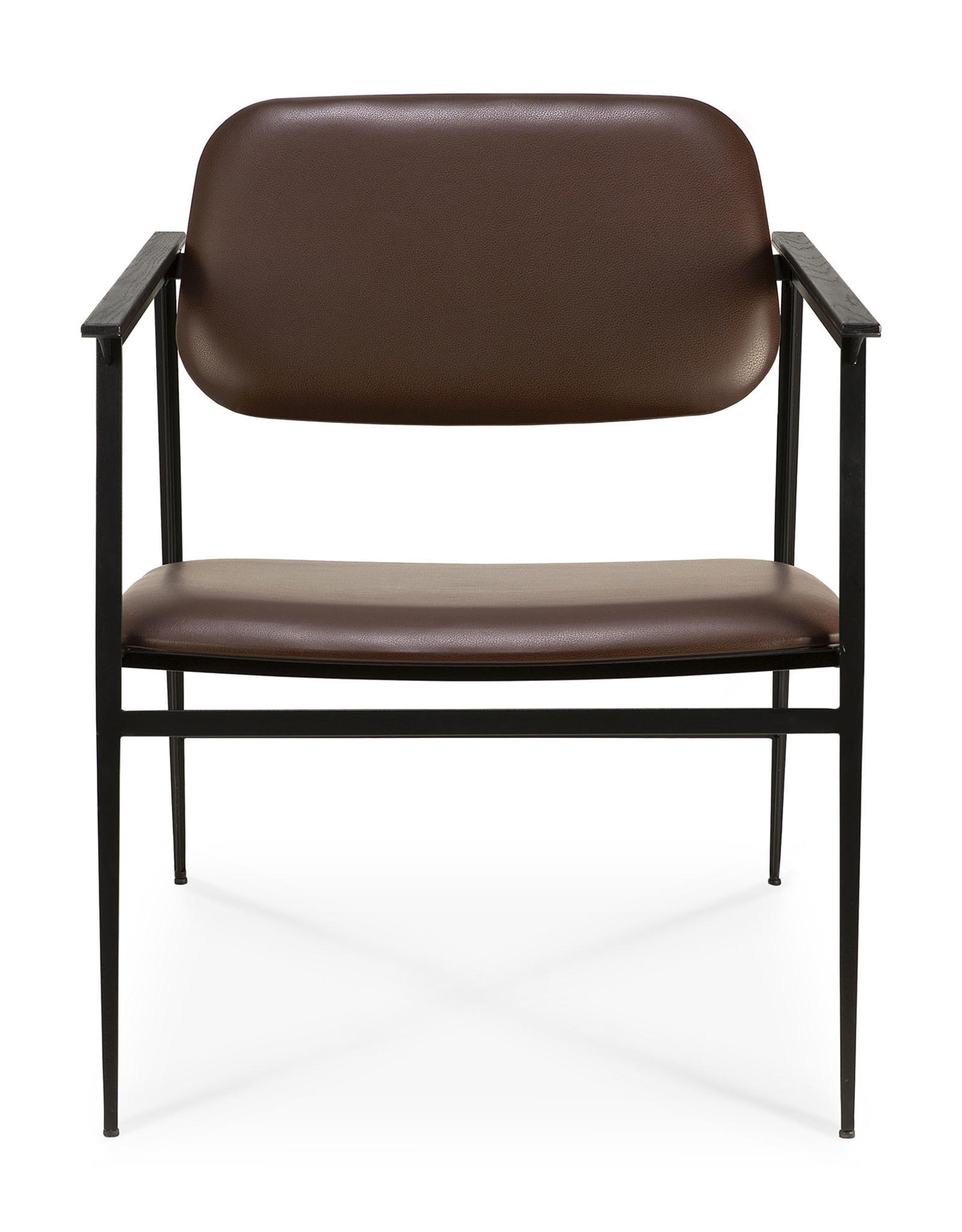 DC lounge chair - chocolate leather