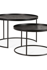 Round tray coffee table set - S/L (trays not included) 19 x 19 x 12 / 24 x 24 x 15
