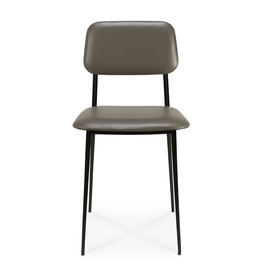 DC dining chair - olive green leather