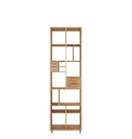 Oak Pirouette book rack 24 x 12 x 79