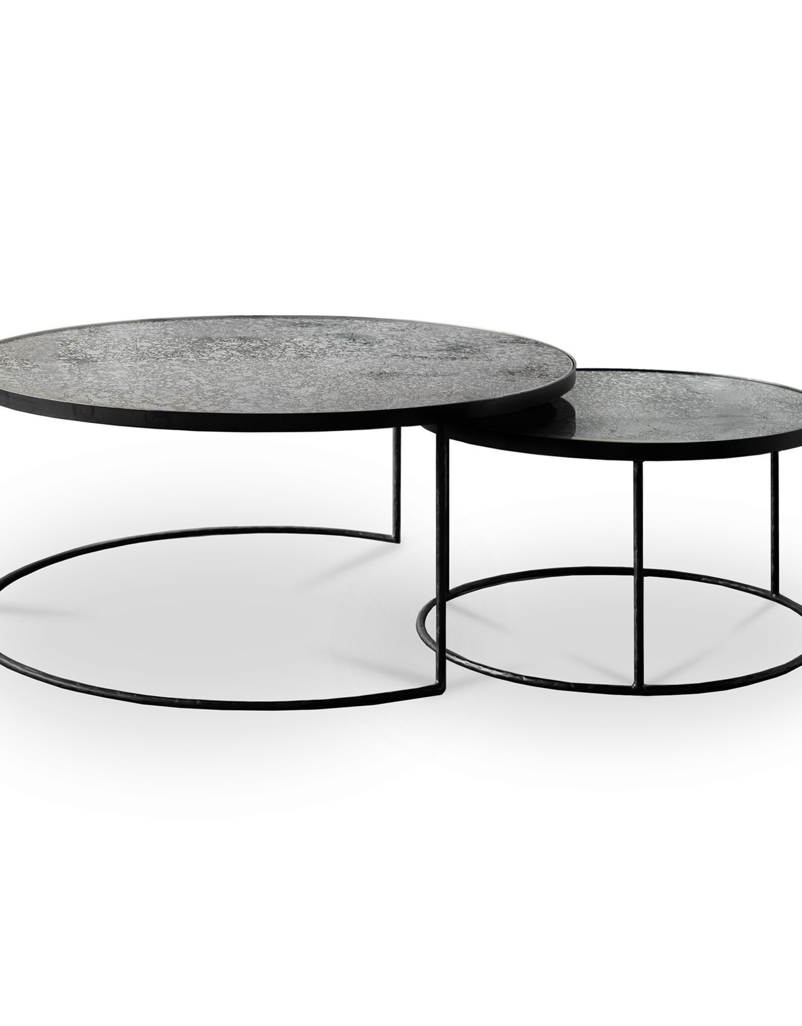 Clear Nesting coffee table - set of 2