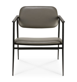 DC lounge chair - olive green leather