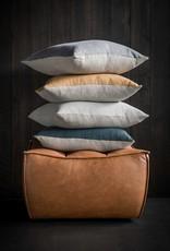 Blue Lin Sauvage Square Cushion