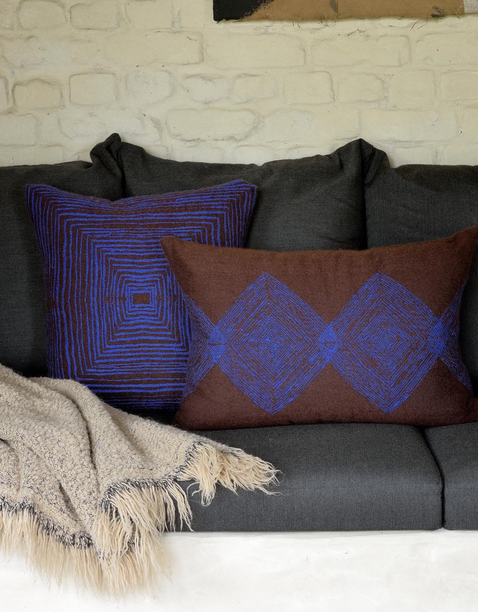 Brown Linear Diamonds Lumbar Cushion