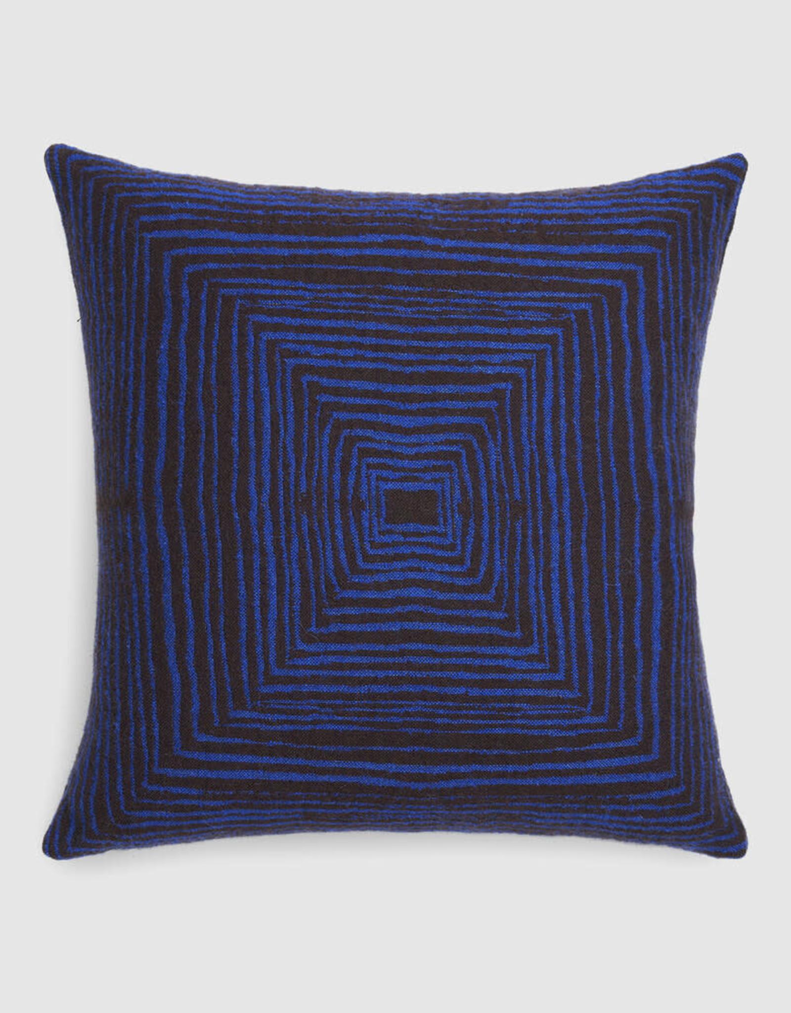 Brown Linear Square Cushion