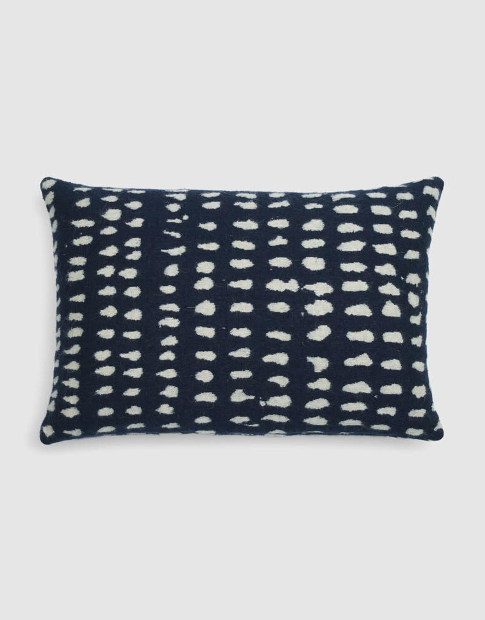 Navy Dots Lumbar Cushion