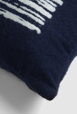 Navy Lines Square Cushion