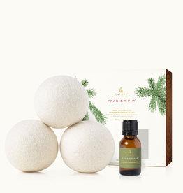 Frasier Fir Wool Dryer Balls & Laundry Fragrance Oil Set