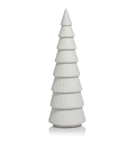 Ceramic Holiday Tree - Matte White - 12 in
