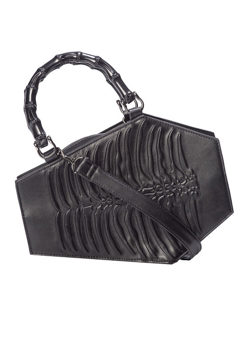 Banned Amaranth Coffin Handbag