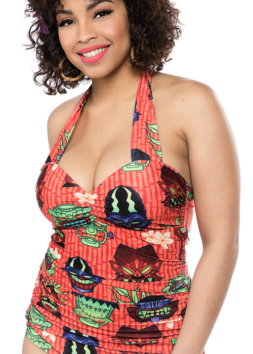 sourpuss Maillots Monster Tiki