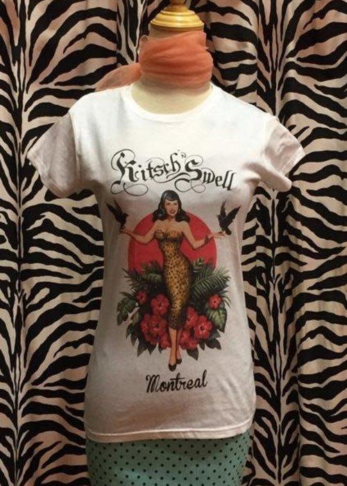 Kitsch'N Swell T-Shirt Kitsch'N Swell Blanc Femme