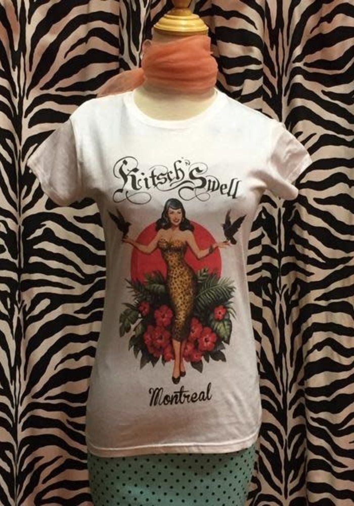 T-Shirt Kitsch'N Swell Blanc Femme