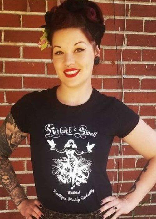 T-Shirt Kitsch'N Swell Noir