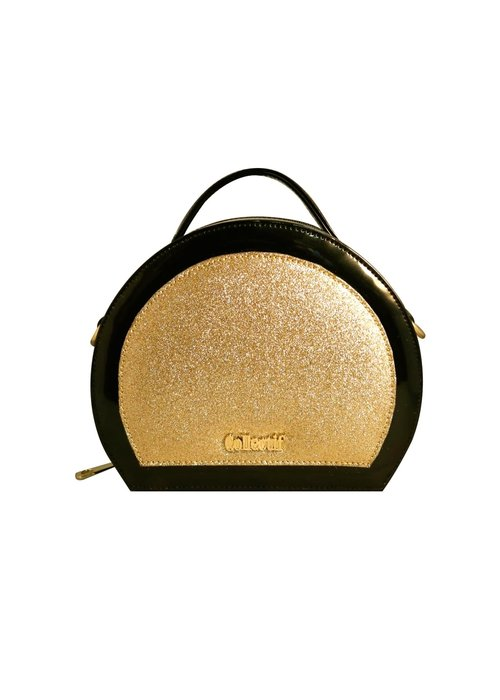 Collectif Gold Glitter Vanity Handbag