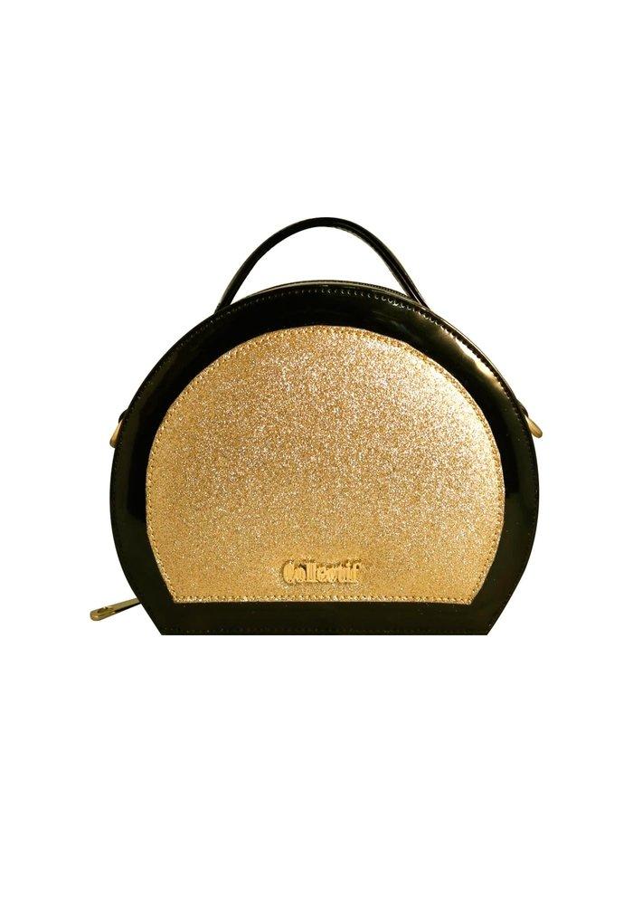Gold Glitter Vanity Handbag
