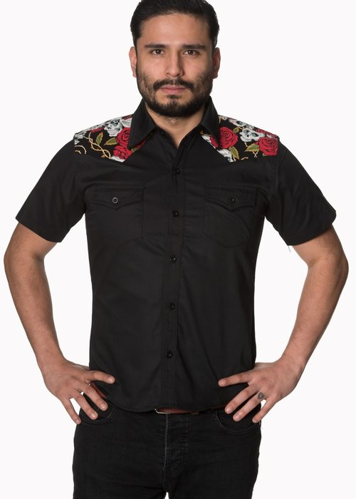 Banned Chemise Skulls and Roses