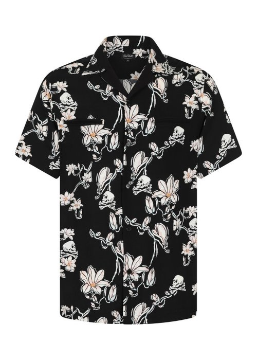 Hell Bunny Skulls and flowers chemise homme