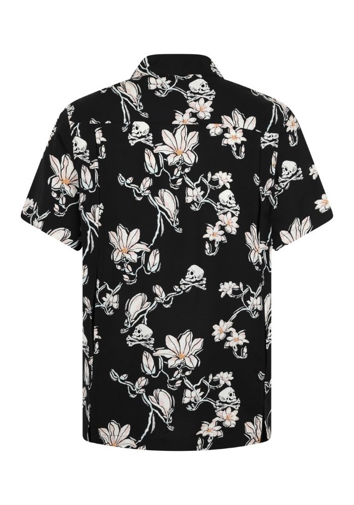 Skulls and flowers chemise homme