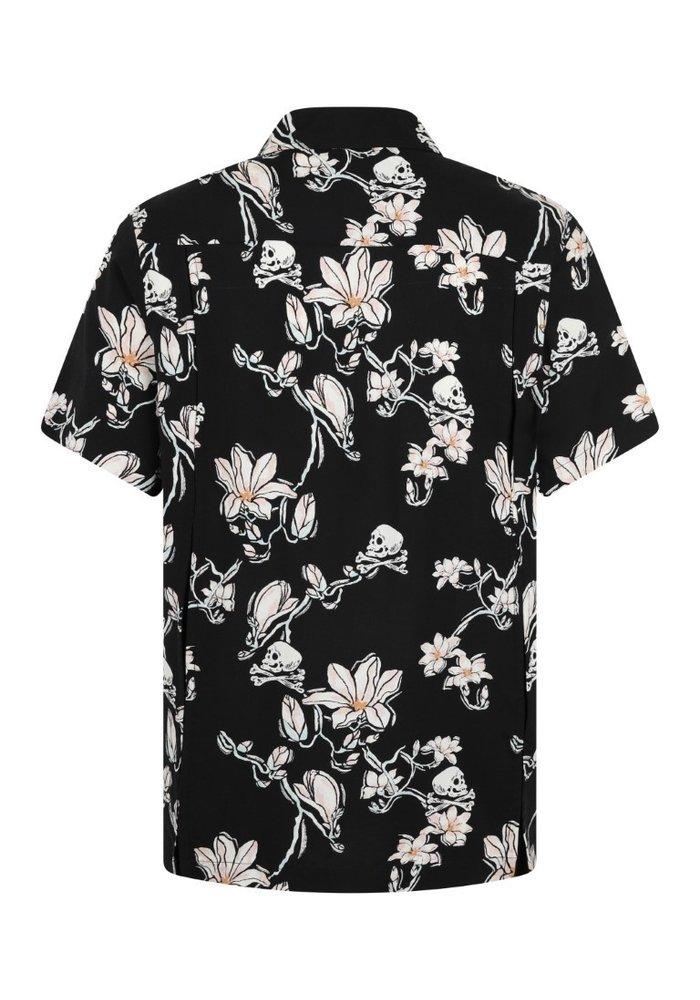 Skulls and flowers chemise homme